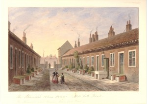 Almshouses Mile End courtesy BM
